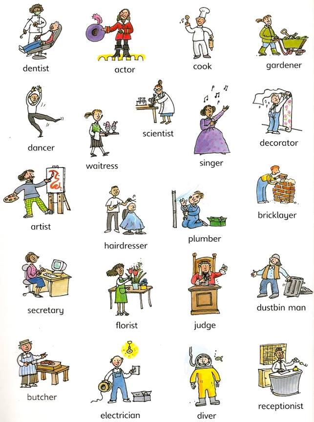 Ocupaciones en inglés