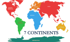 Continentes en inglés